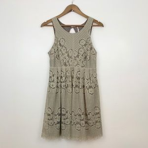 Free People Lace Dress in tan, Size 6